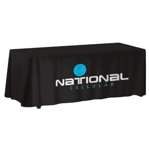 6' NON-FITTED Front Print ONLY Table Cover (with Stock Fabric Color)
